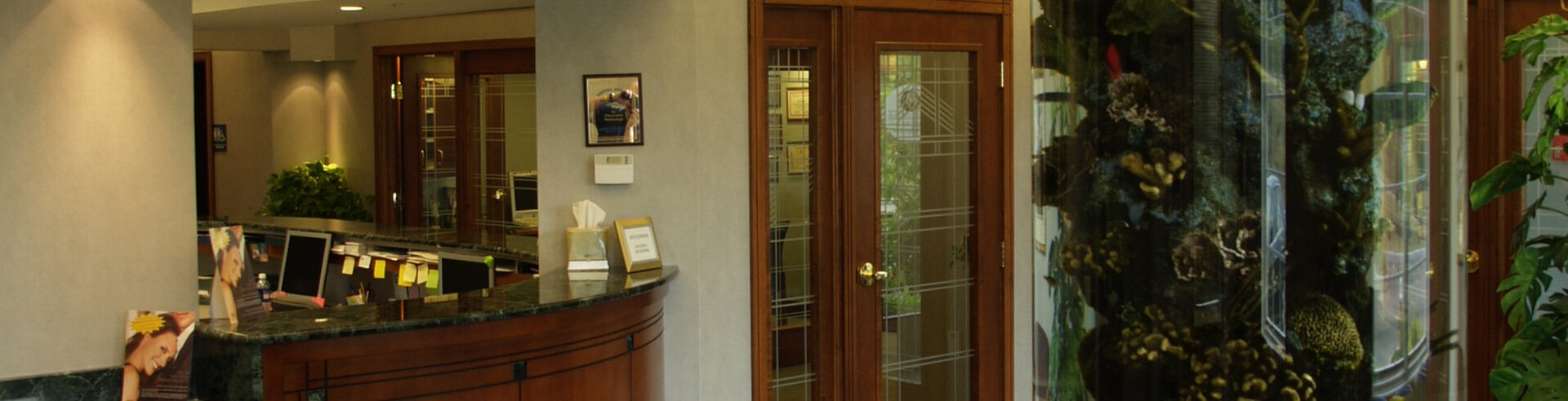 Alex Bell Dental Office Reception Side View